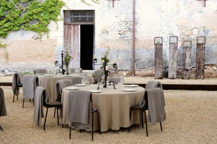 Dinner in the courtyard